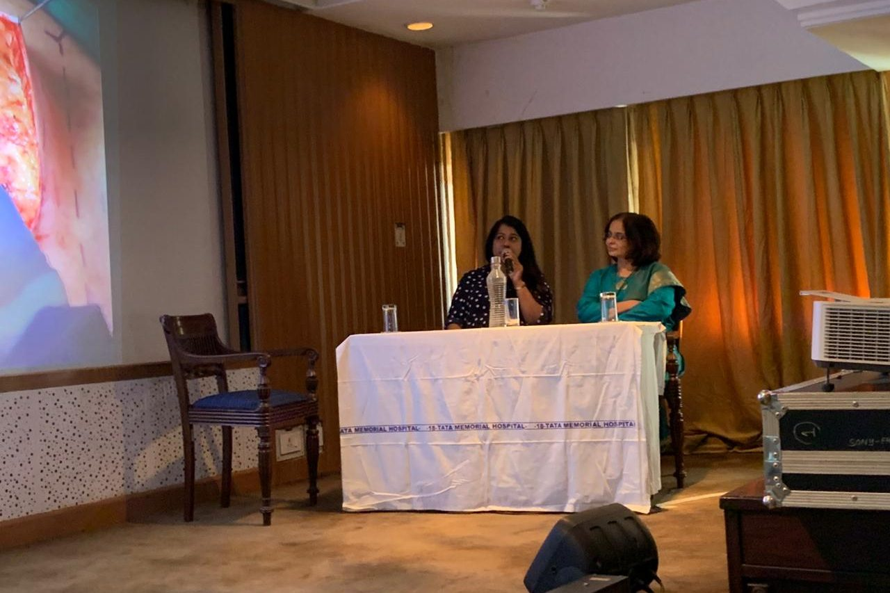 Moderating a session of breast cancer surgeries in Tata Memorial hospital, Mumbai